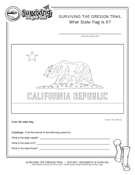 Coloring Page State Flag California Printable Worksheet Surviving