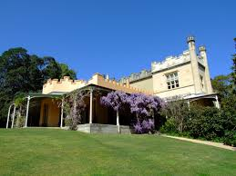 Photograph of the verandah and flowering wisteria at Vaucluse House