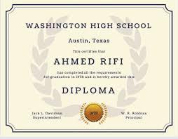 Free Homeschool Diploma Template Customize 39 High School Diploma Template Editable Download