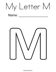 If your kids like to color, these alphabet coloring pages are sure to please! My Letter M Coloring Page Lettering Alphabet Letter A Coloring Pages Cool Lettering