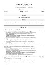 Sample Travel Management Resume Cv Sample Executive Manager Fmcg Hotel Industry Samples Car
