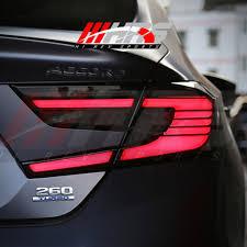 2018 Honda Accord Brake Lights Hrs 2018 19 Honda Accord Led Tail Lights V2 Black Smoke