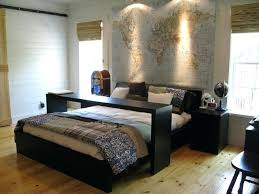 rolling table over bed elegant light wood floor bedroom photo in with white walls rolling bedside