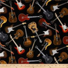 Music Quilt Fabric - Fabric.com & Timeless Treasures Guitars Black Adamdwight.com
