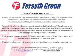 Forsyths Exciting Job Opportunity