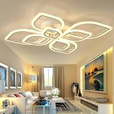 led recessed ceiling lights light living room bedroom pop for modern acrylic overlapping frames