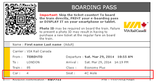 Seat Assignment Via Rail