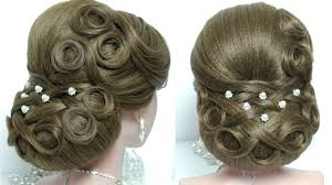 Wedding Hair Style Up Do bridal updo wedding hairstyle for long hair tutorial youtube 7640 by wearticles.com