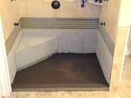 installing a shower base on concrete floor pouring a shower pan concrete shower tricks how to installing a shower base on concrete floor