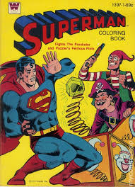 Check out our superman coloring selection for the very best in unique or custom, handmade pieces from our shops. Superman Coloring Book Sc 1965 1980 Whitman Comic Books 1980