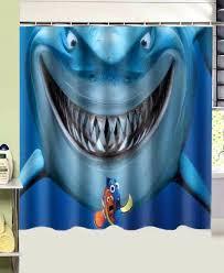bathroom s finding fish shark printed shark shower curtain bathroom s finding fish shark shark shower curtain