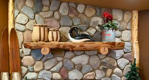 the white pine log mantel shelf