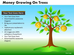 tree in powerpoint money growing on trees powerpoint templates editable ppt slides