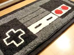 Video Game Rugs Holiday Gaming Decor Presents Video Game Bath Mat