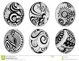 zentangle easter eggs for coloring book for