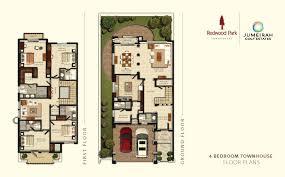 townhouse floor plans. 4 Bedroom Townhouse Bedrooms: 4, Total BUA:5466 Sqft. Download Floor Plan Plans