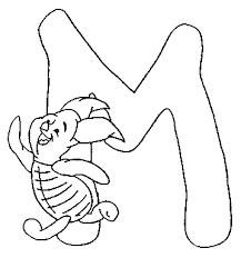 Alfabeto Winnie The Pooh Immagine Da Colorare N 12175 Cartoni Da