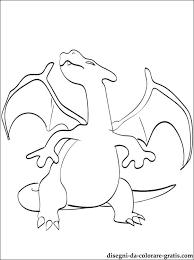 Charizard Pokémon Leggendario Disegno Da Colorare Disegni Da