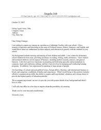 Cover Letter Template For Resume For Teachers Substitute Teacher