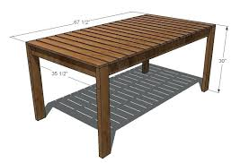 wood patio table for lovely wood patio table plans white simple outdoor dining table projects 58
