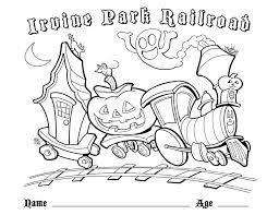 Small Picture Childrens Coloring Page Irvine Park Railroad