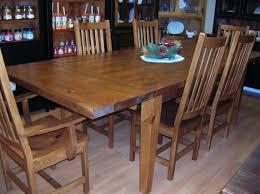 Mennonite Bedroom Furniture Pine Harvest Table Rough Sawn Pine Harvest Dining Set Harts