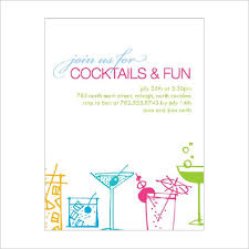 Cocktail Party Invitation Word Template In 2019 Cocktail