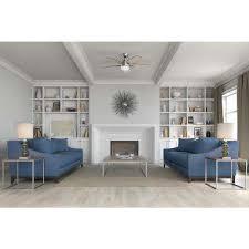 ceiling fans with lights for living room. LED Indoor Brushed Nickel Ceiling Fan With Light Fans Lights For Living Room