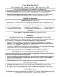 Mba Resume Template Stunning MBA Resume Sample Monster