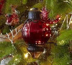 large red mercury glass metal ornament