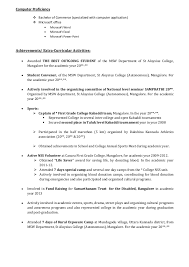 Resume For Msw Student