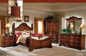 Bedroom Furniture Set With Armoire Metal Wood Poster Desk Lamp Four