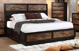 New Classic Makeeda California King Storage Bed in Rustic ...