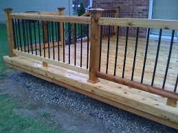 new deck railing ideas wood