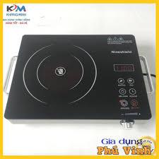 Bếp hồng ngoại bếp điện quang cảm ứng 2 vòng nhiệt NineShield 2200W tiết  kiệm điện Bảo hành 12 tháng tại Hà Nội