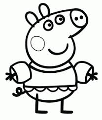 And the cartoon characters have always been the things that excite and are familiar for children. Peppa Pig Drawing To Print Novocom Top