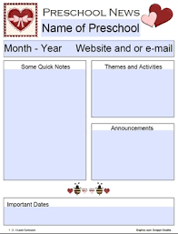 february newsletter template february preschool newsletter template by 1 2 3 learn curriculum