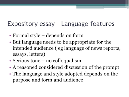"""expository essay writing context  """"encountering conflict""""   ppt    expository essay – language features formal style – depends on form but language needs to be"""