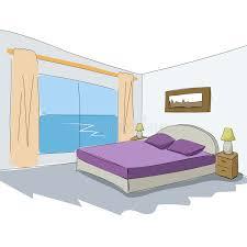 Download Vector Interior Sketch Design Of Bedroom. Stock Vector    Illustration Of Drafting, Blueprint