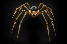mb f arachnophobia adorns the wall with a horrifying spider clock