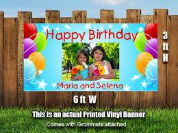 happy birthday customized banners birthday photo banner personalized happy birthday banner
