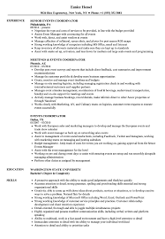 Events Coordinator Resume Samples Velvet Jobs