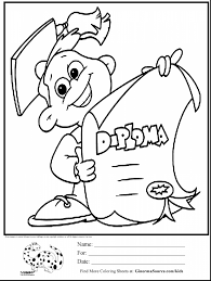 Kindergarten Graduation Coloring Pages Coloring College Graduation Coloring Page For Preschool Pages On
