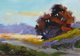 1 5x7 plein air oil painting on masonite by tom brown