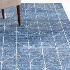recycled blue jean rag rug hand woven denim ivory area in rugs floors modern denim blue rug