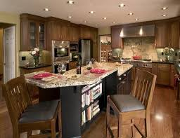 Open Kitchen Island Designs Traditional Open Plan Kitchen Interior Design With Modular Curved