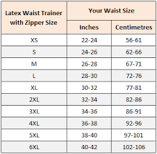Zipper Size Chart Sports Safe Raw Latex Waist Trainer With Zipper 9 Spiral Steel Bones