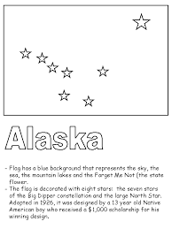 Small Picture Alaska State Flag Coloring Page Alaska Crafts for Kids