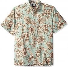Reyn Spooner Size Chart Reyn Spooner Mens Kloth Classic Fit Hawaiian Shirt Onishi Garden Seafoam M