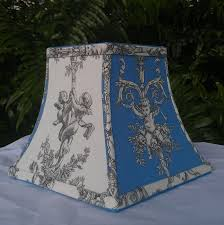 blue white toile lamp shades world throughout and plan 14